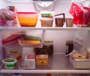 冷蔵庫の食品
