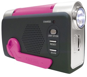 手動充電式ラジオ
