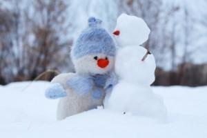 都心で積雪