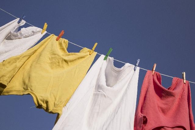 濡れた洗濯物の対処法。